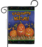 Halloween Welcome - Halloween Fall Vertical Impressions Decorative Flags HG112079 Made In USA