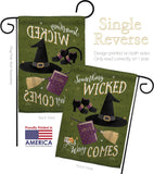Something Wicked - Halloween Fall Vertical Impressions Decorative Flags HG112082 Made In USA