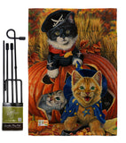 Halloween Kittens - Halloween Fall Vertical Impressions Decorative Flags HG112058 Made In USA