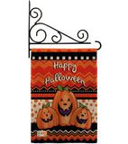 Halloween Trio - Halloween Fall Vertical Impressions Decorative Flags HG112062 Made In USA