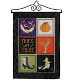 Trick or Treat Collage - Halloween Fall Vertical Impressions Decorative Flags HG112074 Made In USA