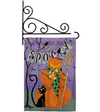 Spooky Pumpkin Men - Halloween Fall Vertical Impressions Decorative Flags HG112085 Made In USA