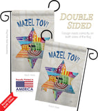 Mazel Tov Star - Hanukkah Winter Vertical Impressions Decorative Flags HG114132 Made In USA