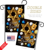 Happy Hanukkah - Hanukkah Winter Vertical Impressions Decorative Flags HG137063 Made In USA