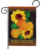 Welcome Pumpkin - Harvest & Autumn Fall Vertical Impressions Decorative Flags HG113029 Made In USA