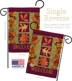 3 Fall Leaves - Harvest & Autumn Fall Vertical Impressions Decorative Flags HG113061 Made In USA