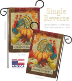 Autumn Blessings Turkey - Harvest & Autumn Fall Vertical Impressions Decorative Flags HG113070 Made In USA