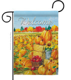 Pumpkin Patch - Harvest & Autumn Fall Vertical Impressions Decorative Flags HG113081 Made In USA
