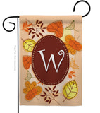 Autumn W Initial - Harvest & Autumn Fall Vertical Impressions Decorative Flags HG130049 Made In USA
