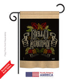Charlkboard Hello Autumn - Harvest & Autumn Fall Vertical Impressions Decorative Flags HG137108 Printed In USA