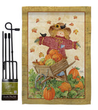 Scarecrow - Harvest & Autumn Fall Vertical Impressions Decorative Flags HG113043 Made In USA