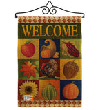 Autumn Collage - Harvest & Autumn Fall Vertical Impressions Decorative Flags HG113046 Made In USA