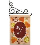 Autumn Y Initial - Harvest & Autumn Fall Vertical Impressions Decorative Flags HG130051 Made In USA
