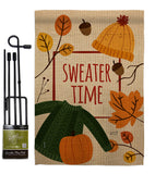 Sweater Time - Harvest & Autumn Fall Vertical Impressions Decorative Flags HG137107 Made In USA
