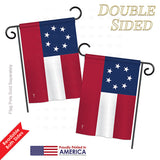 Star & Bars - Historic Americana Vertical Impressions Decorative Flags HG140683 Printed In USA