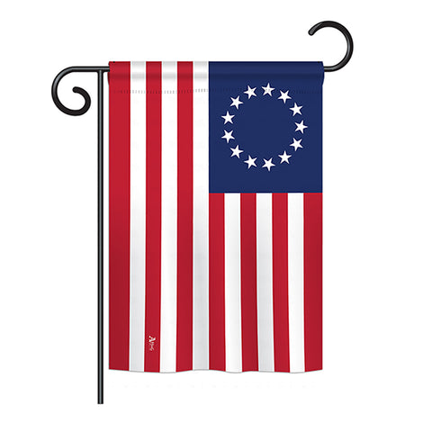 Betsy Ross - Historic Americana Vertical Impressions Decorative Flags HG140704 Printed In USA