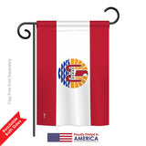 French Polynesia - Historical Flags of the World Vertical Impressions Decorative Flags HG140844 Printed In USA