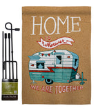 Home is Wherever Camper - Hobbies Interests Vertical Impressions Decorative Flags HG109066 Made In USA