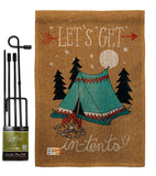 Adventure in Tents - Hobbies Interests Vertical Impressions Decorative Flags HG109067 Made In USA