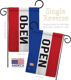 Open - Merchant Special Occasion Vertical Impressions Decorative Flags HG140792 Made In USA
