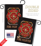 Fire Fighter - Military Americana Vertical Impressions Decorative Flags HG108063 Made In USA