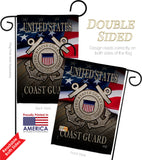 US Coast Guard - Military Americana Vertical Impressions Decorative Flags HG137135 Made In USA