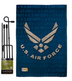 US Air Force - Military Americana Vertical Impressions Decorative Flags HG108053 Imported