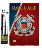 Coast Guard - Military Americana Vertical Impressions Decorative Flags HG108056 Made In USA