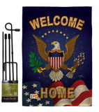 Welcome Home - Military Americana Vertical Impressions Decorative Flags HG108064 Made In USA