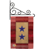 Two Star Service - Military Americana Vertical Impressions Decorative Flags HG108069 Made In USA