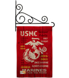 USMC - Military Americana Vertical Impressions Decorative Flags HG108405 Made In USA