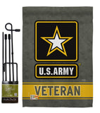 US Army Veteran - Military Americana Vertical Impressions Decorative Flags HG108430