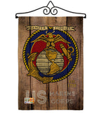 US Marine Corps - Military Americana Vertical Impressions Decorative Flags HG137083 Made In USA