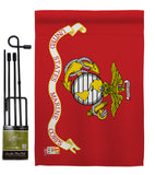 Marine Corps - Military Americana Vertical Impressions Decorative Flags HG140305 Made In USA