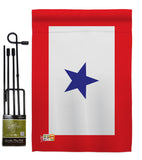 Blue Star - Military Americana Vertical Impressions Decorative Flags HG140343 Made In USA