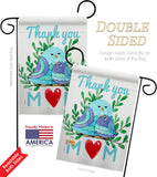 Thank you Mom - Mother's Day Summer Vertical Impressions Decorative Flags HG115167 Made In USA