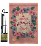 Pink Mother Day - Mother's Day Summer Vertical Impressions Decorative Flags HG137178 Made In USA