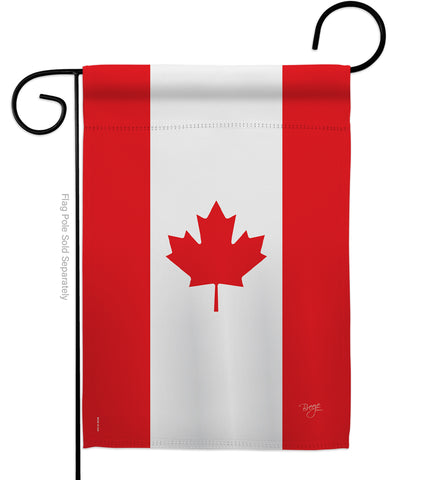 Canada - Nationality Flags of the World Vertical Impressions Decorative Flags HG108008 Made In USA