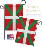 Basque - Nationality Flags of the World Vertical Impressions Decorative Flags HG108234 Made In USA