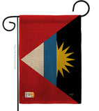Antigua and Barbuda - Nationality Flags of the World Vertical Impressions Decorative Flags HG108281 Made In USA