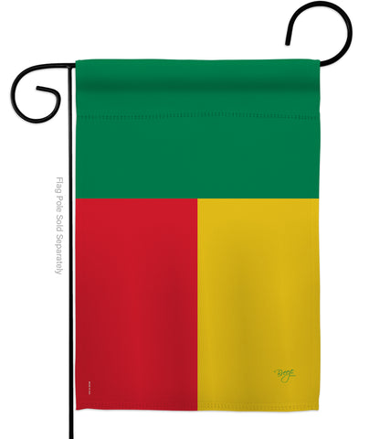 Benin - Nationality Flags of the World Vertical Impressions Decorative Flags HG108304 Made In USA