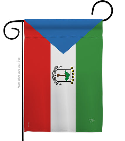 Equatorial Guinea - Nationality Flags of the World Vertical Impressions Decorative Flags HG108305 Made In USA