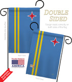 Aruba - Nationality Flags of the World Vertical Impressions Decorative Flags HG108340 Made In USA