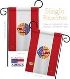 French Polynesia - Nationality Flags of the World Vertical Impressions Decorative Flags HG108361 Made In USA