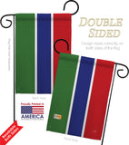 Gambia - Nationality Flags of the World Vertical Impressions Decorative Flags HG108366 Made In USA