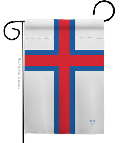 Faroe Islands - Nationality Flags of the World Vertical Impressions Decorative Flags HG108376 Made In USA