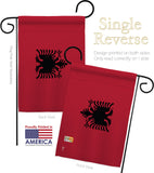Albania - Nationality Flags of the World Vertical Impressions Decorative Flags HG140003 Made In USA
