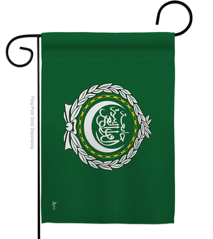 Arab League - Nationality Flags of the World Vertical Impressions Decorative Flags HG140011 Made In USA