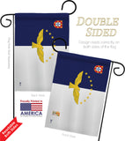 Azores - Nationality Flags of the World Vertical Impressions Decorative Flags HG140019 Made In USA
