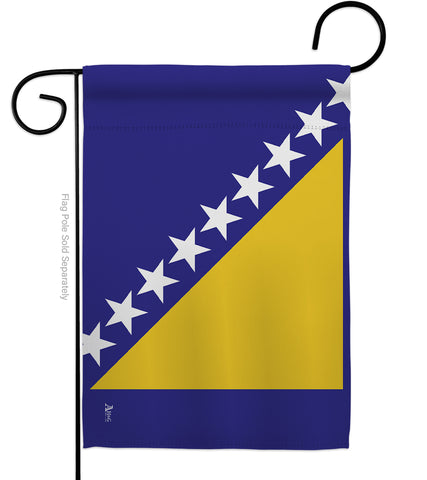 Bosnia-Herzegovina - Nationality Flags of the World Vertical Impressions Decorative Flags HG140034 Made In USA